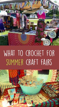 What To Crochet For Summer Craft Fairs (Gleeful Things) - I was recently asked for tips on what type of crochet items would be ideal for craft fairs during t - Crochet Craft Fair, Knit Or Crochet, Crochet Gifts, Crochet Projects To Sell, Crochet Crafts To Make And Sell, Things To Crochet, Crochet Blogs, Giraffe Crochet, Crochet Braid