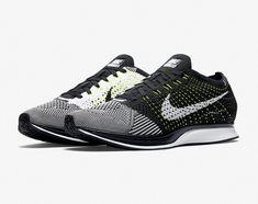 c951dc12bf89 Nike Flyknit Racer Men s New Athletic Running Shoes Black White Volt