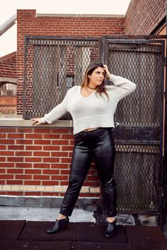 How To Wear A Sweater When You Have Big Breasts #refinery29  http://www.refinery29.com/best-sweaters-for-big-boobs#slide-5  This one's all about the details. An oversized rib is a subtle way to keep the eye from lingering on your chest, as it creates an obvious texture down at the hem.AYR Mo-AYR, $325 $295, available at AYR; Sarah Chloe Suede Choker, $45, available at <...