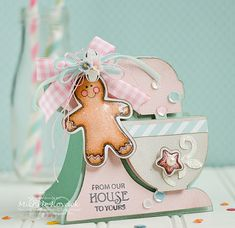 Adorable Christmas mixer! Uses the Silhouette and stamps from JustRite called, Applique Christmas Labels