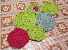 Trivet made with used T-Shirts