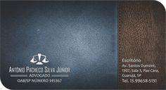 Cartão de Visita - Antonio Pacheco - Advogado - VERSO