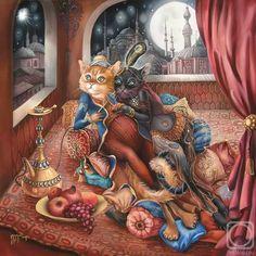 Cat Art... =^. ^=... ❤... By Artist Nadezhda Sokolova...