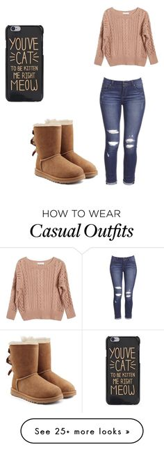 """Winter casual"" by kaylawuzhere on Polyvore featuring Ryan Roche and UGG"