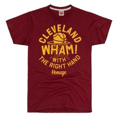 Wham! With The Right Hand Cleveland Cavaliers Shirt. Our homage to Joe Tait! 1512f4fa0