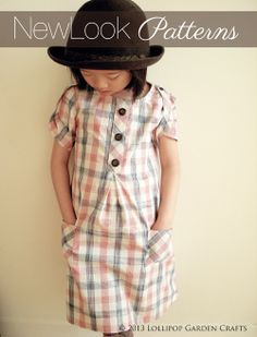 Back to School Dress Using New Look Patterns 6088 (Lollipop Garden Crafts) Sewing Kids Clothes, Sewing For Kids, Baby Sewing, Diy Clothes, New Look Patterns, Sewing Patterns Free, Kids Patterns, Dress Patterns, Sewing Ideas