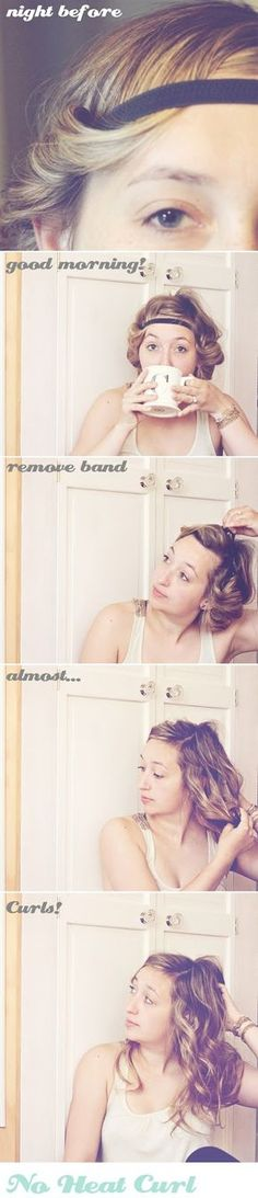 No Heat Curl Headband - Hair Tutorial