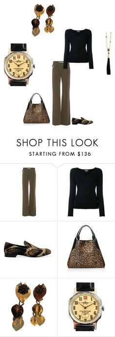 """""""School Daze"""" by jrrenner76 ❤ liked on Polyvore featuring Veronica Beard, N.Peal, Sergio Rossi, Lanvin, Kenzo, Oscar de la Renta, MyStyle, BusinessCasual, academic and brownandblack"""