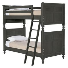 myHaven Twin Bunk Bed by Young America -love the charcoal gray stain!