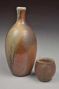 Wood Fired Whiskey Bottle and Cup Set by justinlambert on Etsy, $48.00