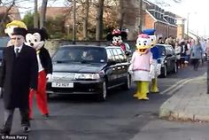 Family of toddler who died from a rare liver disease attended the funeral dressed as the cartoon characters that kept him so happy during his brave battle.