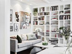 15 Gorgeous Bookshelf Decorating Ideas For Lovely Living Room Design - Bücherregal Dekor Bedroom Designs Images, Living Room Designs, Living Spaces, Bookshelves In Living Room, Bookshelves Built In, Bookcases, Built Ins, Custom Bookshelves, Diy Interior