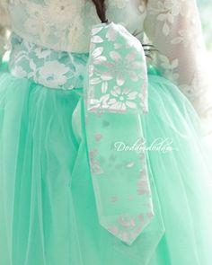 민트 은박 댕기 hanbok hair tie W6,000 http://dodamdodam.com/goods_detail.php?goodsIdx=3719