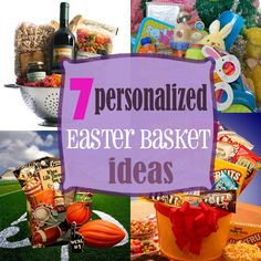 Create a fun alternative to traditional baskets with personalized Easter baskets for the whole family.