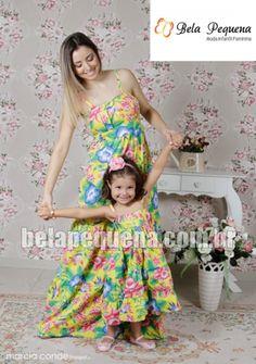 Vestidos mãe e filha floral primavera