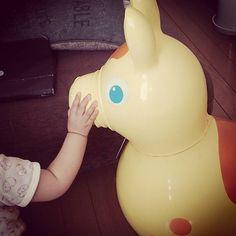Instagram media manamiii168 - 誕生日プレゼントにもらった相棒! #ロディ#イエロー#実は怖い#このあとぎゃん泣き#もうすぐ1歳