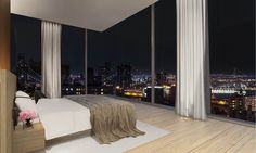 Herzog & de Meuron and John Pawson teamed up to design the exterior and interior of a Manhattan hotel and apartment block for developer Ian Schrager. New York Projects, Manhattan, Best Interior, Interior Design, New York City Apartment, Modern Mansion, Mansions For Sale, Master Bedroom Design, Bedroom Designs