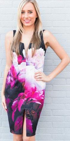 The Jada Dress in Pink