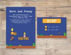 Super Mario wedding invitation by FlurgDesigns on Etsy