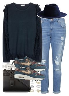 """""""Untitled #3199"""" by hellomissapple on Polyvore featuring Topshop, Harmony Paris, NIKE, Yves Saint Laurent and FOSSIL"""