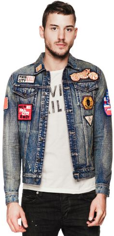 1000+ Images About Patched Denim Jacket On Pinterest | Patched Denim Menu0026#39;s Jean Jackets And ...