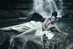 Dxf Water Shoot, Love Scenes, Fashion Shoot, Dress Fashion, Underwater Photography, Dark Beauty, Sea Creatures, Waterfall, Hair Makeup