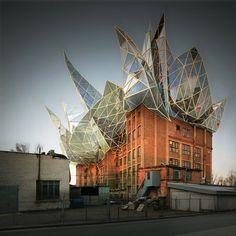 Victor Enrich convirtió la visualización arquitectónica en su principal actividad; crea imágenes de edificios imposibles a través del retoque fotográfico.