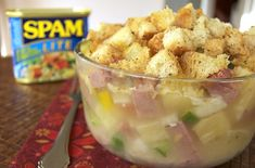 Spam and Pineapple Casserole. I do love me some spam.