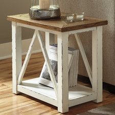Marshone Rectangle End Table