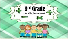Common Core Standards are aligned within this Pre/Post Assessment based on 3rd grade standards.Basic Multiplication and Division, fractions, graphs, Measurement and Data, telling time, elapsed time, story problems and more!!!Challenge students while analyzing and measuring student mastery of third grade math concepts.