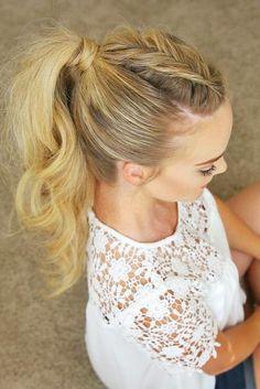 Wunderschöne Und Stilvolle Möglichkeiten, Um Verstärker Zu Einem Pferdeschwanz Frisur Für Die Hochzeit