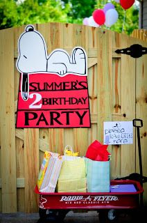 Planning for a Snoopy Birthday Party