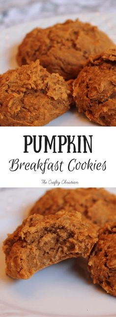 Paleo Breakfast Pumpkin Cookies {Recipe} Pumpkin cookies are just about a rite of passage once Fall hits. But if you're looking to stay healthy through the holiday season, then try these guilt-free breakfast pumpkin cookies! Healthy Cookies, Healthy Sweets, Healthy Baking, Protein Cookies, Healthy Food, Healthy Breakfast Cookies, Pumpkin Protein Muffins, Protein Cake, Protein Breakfast