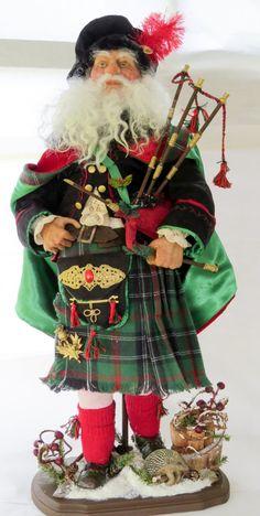 OOAK Santa, Handcrafted Scottish Highlander Santa Doll by artist Walt Carter by WaltCarterSantas on Etsy https://www.etsy.com/listing/226760147/ooak-santa-handcrafted-scottish
