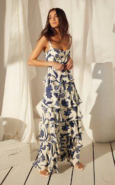 Get inspired and discover Johanna Ortiz trunkshow! Shop the latest Johanna Ortiz collection at Moda Operandi. Casual Mode, Silk Shirt Dress, Ruffle Dress, Ruffles, Goddess Dress, Looks Chic, Mode Inspiration, The Dress, Fancy Dress