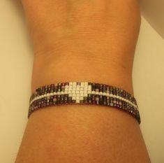 Beaded Miyuki Bracelet by MiyukiObsession on Etsy Loom Bracelet Patterns, Bead Loom Bracelets, Bead Loom Patterns, Woven Bracelets, Handmade Bracelets, Beading Patterns, Beaded Bracelets Tutorial, Bead Crochet, Loom Beading