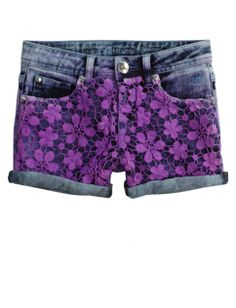 Allover Paint Splatter Denim Shorts | Girls Shorts Clothes | Shop ...