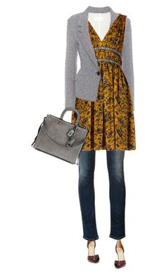 Trend: Dress Over Pants by carolinez1 on Polyvore featuring polyvore fashion style Étoile Isabel Marant Citizens of Humanity Francesco Russo Coach clothing