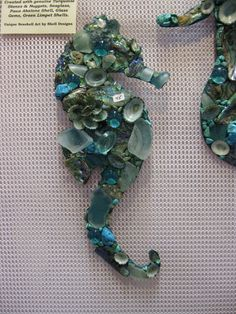 Mosaic Seahorses and Mermaids | Shell Designs