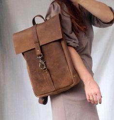 Leather backpacklaptop bag-FREE SHIPPING by NatashaKraskin on Etsy