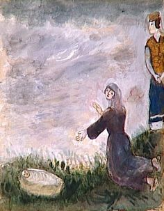 Moses is saved from the water by Pharaoh's daughter - Marc Chagall - WikiArt.org - (bat paroah)