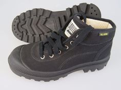 PALLADIUM Black Canvas High Cut Boots Shoes Women's US Size 8 NICE #Palladium #AnkleBoots