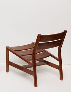 Pierre Gautier Delaye; Oak Lounge Chair, c1960.