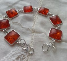 Healing Amber Sterling Silver Bracelet By: Nina by LoveByNina