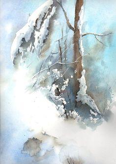Sous la neige, en stage avec Monsieur Fernand Lamy
