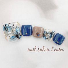 ネイルデザインを探すならネイル数No.1のネイルブック Pretty Toe Nails, Cute Toe Nails, Cute Nail Art, Beautiful Nail Art, Nail Ink, Gel Nail Art, Square Nail Designs, Toe Nail Designs, Feet Nail Design