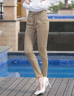 De las mujeres Pantalones Ajustado - Bodycon/Casual/Para Trabajo/Tallas Grandes…