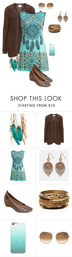 """""""Dream Catcher Dress"""" by gone-girl ❤ liked on Polyvore featuring Boohoo, Zizzi, Poliana Plus, Avenue, Amrita Singh and Chloé"""