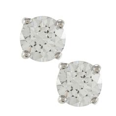 Sunstone 925 Sterling Silver Round-cut Solitaire Earrings Made with SWAROVSKI ZIRCONIA | $19 Overstock.com