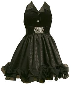 Bonnie Jean Girls 7-16 Black Stretch Velvet Bodice To Taffetta Skirt Black 8From #Bonnie Jean List Price: $88.00Price: $61.60 Availability: Usually ships in 24 hoursShips From #and sold by iPovePou BoutiqueAverage customer review:   3 customer reviews